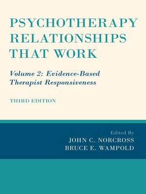 cover image of Psychotherapy Relationships that Work, Volume 2