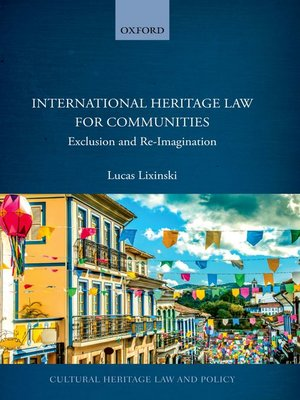 cover image of International Heritage Law for Communities