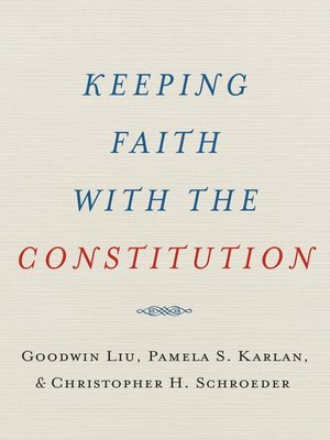cover image of Keeping Faith with the Constitution