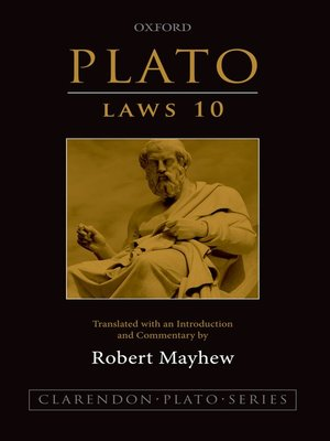 cover image of Plato: Laws 10