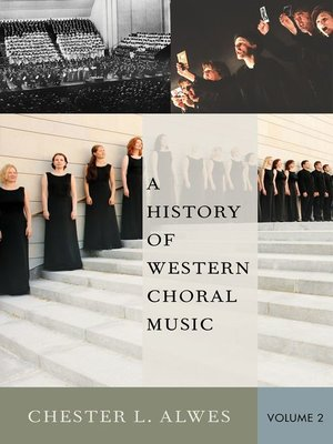 cover image of A History of Western Choral Music, Volume 2