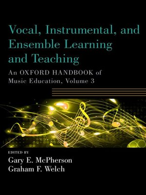 cover image of Vocal, Instrumental, and Ensemble Learning and Teaching