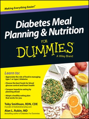 cover image of Diabetes Meal Planning and Nutrition For Dummies