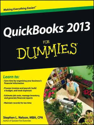 cover image of QuickBooks 2013 For Dummies