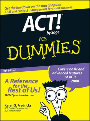 cover image of ACT! by Sage For Dummies