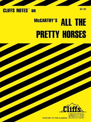 cover image of CliffsNotes on McCarthy's All the Pretty Horses