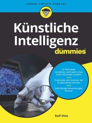 cover image of Künstliche Intelligenz für Dummies