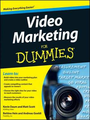 cover image of Video Marketing For Dummies