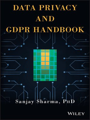 cover image of Data Privacy and GDPR Handbook