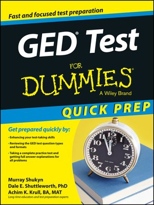 cover image of GED Test For Dummies, Quick Prep Edition