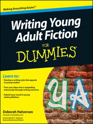 cover image of Writing Young Adult Fiction For Dummies