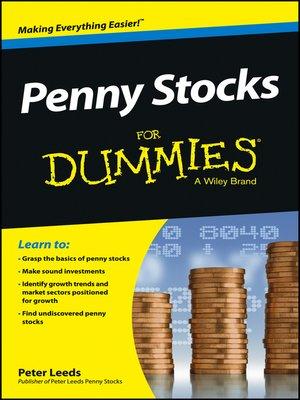 Penny Stocks For Dummies By Peter Leeds Overdrive Rakuten
