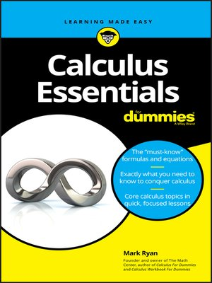 cover image of Calculus Essentials For Dummies