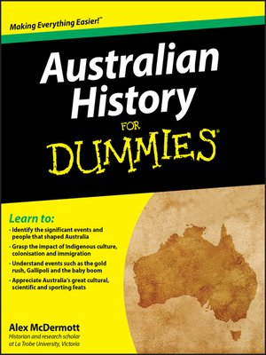 cover image of Australian History for Dummies