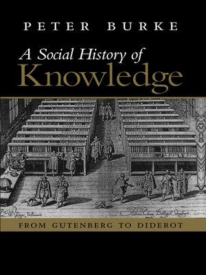 cover image of Social History of Knowledge