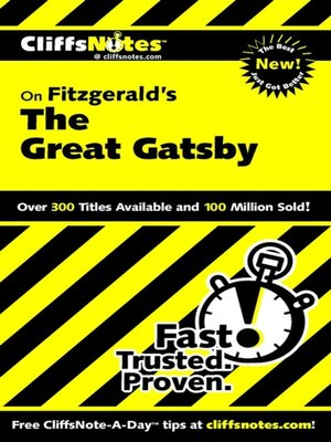 cover image of CliffsNotes on Fitzgerald's The Great Gatsby