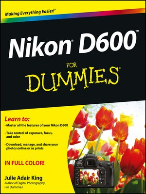 cover image of Nikon D600 For Dummies