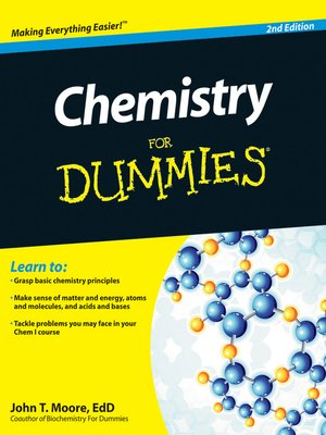 cover image of Chemistry For Dummies