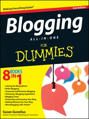 cover image of Blogging All-in-One For Dummies