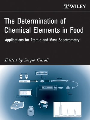 cover image of The Determination of Chemical Elements in Food