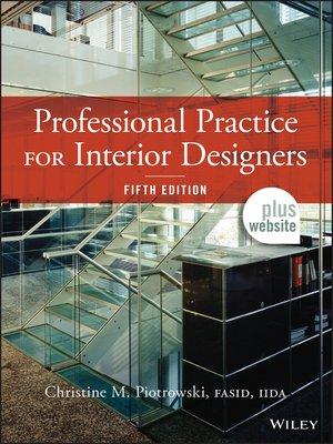 Professional Practice For Interior Designers By Christine M Piotrowski Overdrive Rakuten