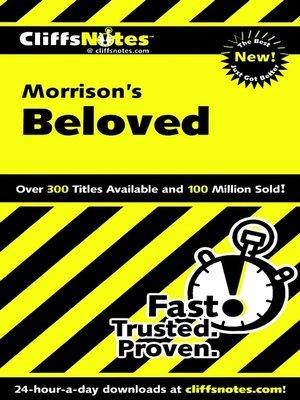 cover image of CliffsNotes on Morrison's Beloved