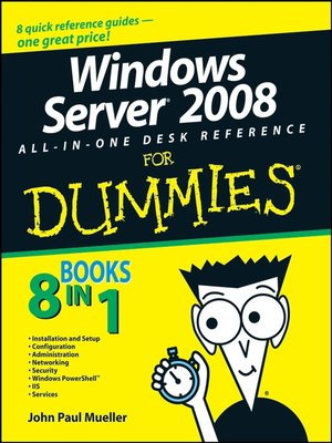 cover image of Windows Server 2008 All-In-One Desk Reference For Dummies