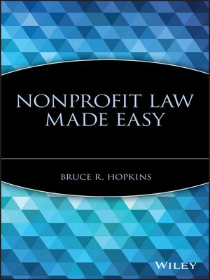 cover image of Nonprofit Law Made Easy