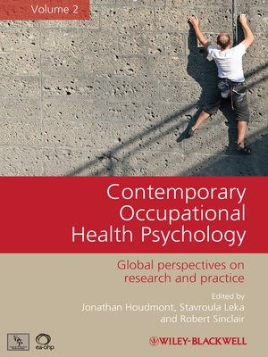 cover image of Contemporary Occupational Health Psychology