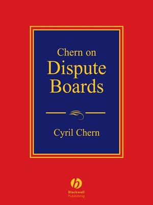 cover image of Chern on Dispute Boards