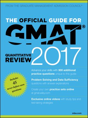 cover image of The Official Guide for GMAT Quantitative Review 2017 with Online Question Bank and Exclusive Video
