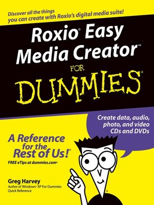 cover image of RoxioEasy Media CreatorFor Dummies