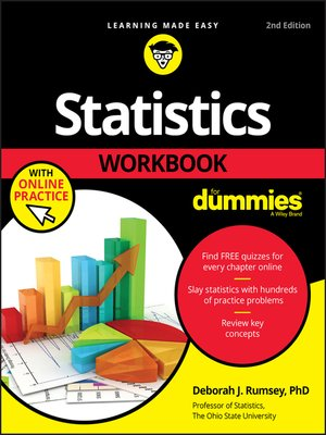 cover image of Statistics Workbook For Dummies with Online Practice