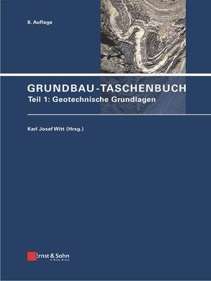 cover image of Grundbau-Taschenbuch, Teil 1