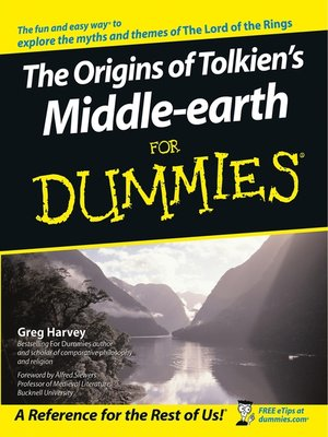 cover image of The Origins of Tolkien's Middle-earth For Dummies