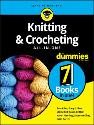 cover image of Knitting & Crocheting All-in-One For Dummies