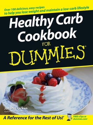 cover image of Healthy Carb Cookbook For Dummies