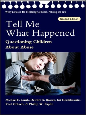 cover image of Tell Me What Happened