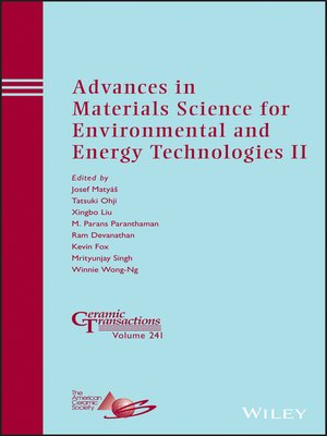 cover image of Advances in Materials Science for Environmental and Energy Technologies II