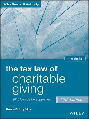 cover image of Charitable Giving 2015 Supplement