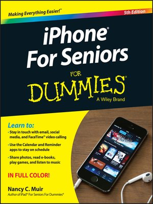 cover image of iPhone for Seniors for Dummies