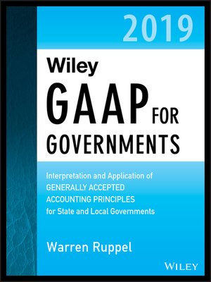 cover image of Wiley GAAP for Governments 2019