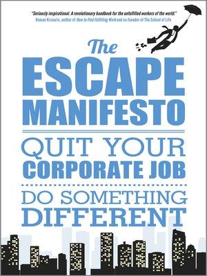 cover image of The Escape Manifesto