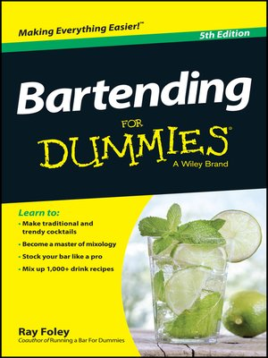 cover image of Bartending For Dummies