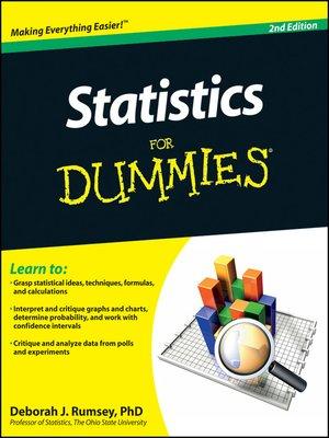 Statistics For Dummies By Deborah J Rumsey Overdrive Rakuten