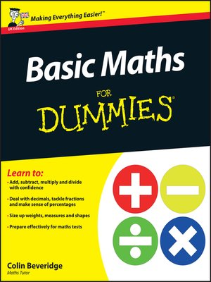 cover image of Basic Maths For Dummies