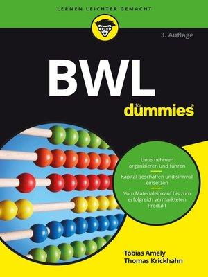 cover image of BWL für Dummies