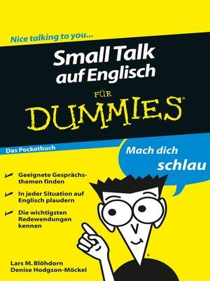 cover image of Small Talk auf Englisch für Dummies Das Pocketbuch