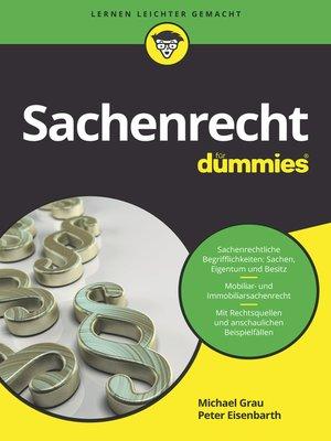 cover image of Sachenrecht für Dummies
