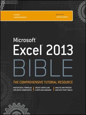 cover image of Excel 2013 Bible